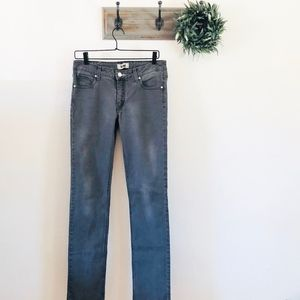 Acne Gray Hex Filter Straight Jeans 30